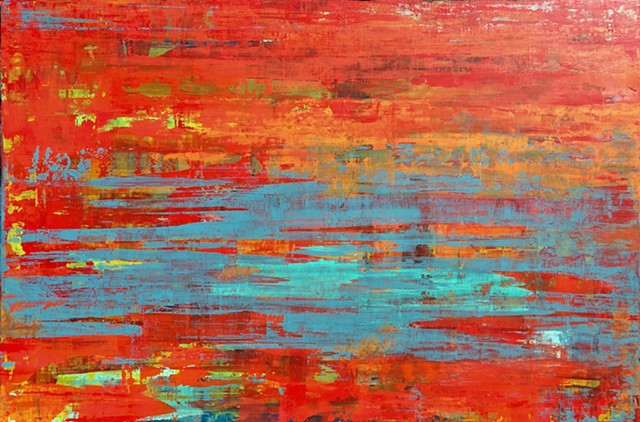 "Abstract Art ""Tempest"" by Alicia Dunn"
