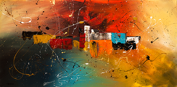 "Abstract Art ""Celebration"" by C. Guedez"