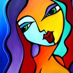 "Abstract Art Painting ""Girl Like You"" by T. Fedro"