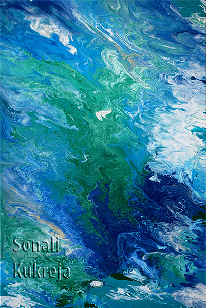 """Abstract Art Painting """"The Free Spirit"""" by S. Kukreja"""