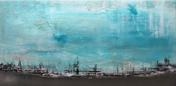 Abstract Art on Canvas Restful by Matt Leblanc