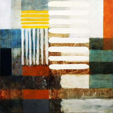 "Abstract Art Painting ""Stripes"" by C. Guitart"