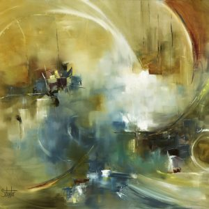 "Abstract Art Painting ""Vesta"" by L. Schuster"
