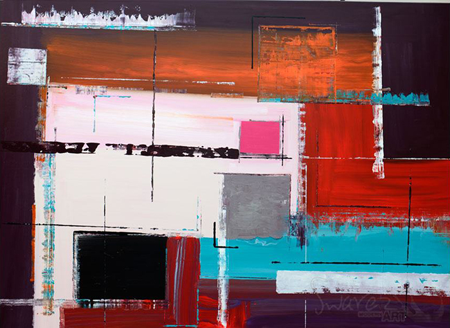 """Abstract Painting """"Last House on the Block"""" by Swarez"""