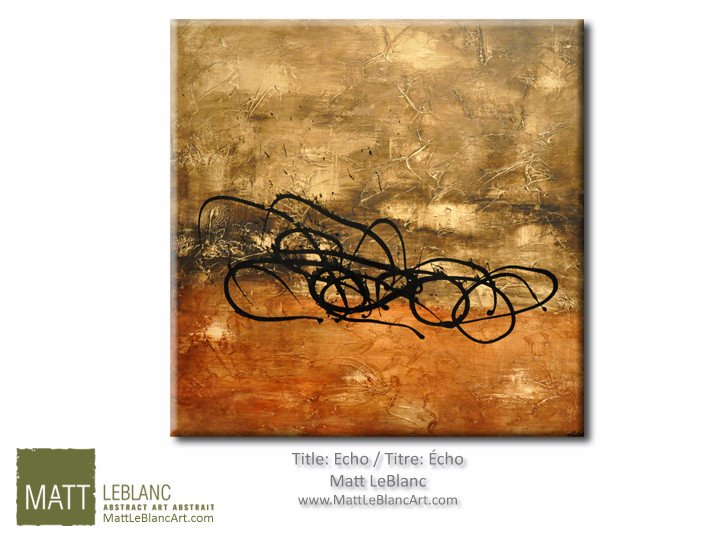 Abstract Painting on Canvas by Artist Matt Leblanc