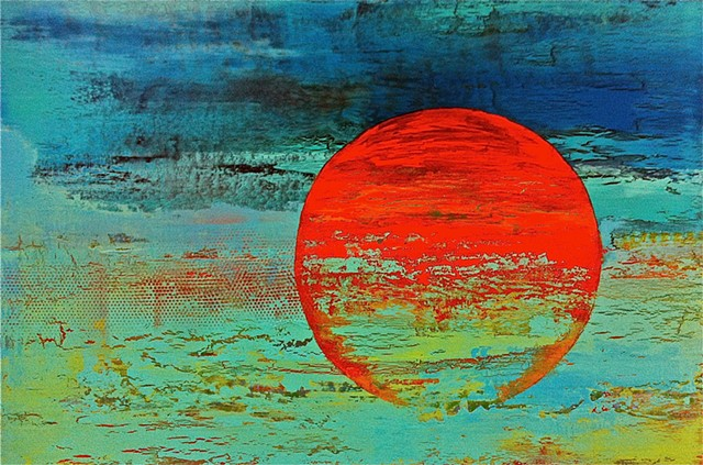 "Abstract Art Painting ""Last Sunset"" by A. Dunn"