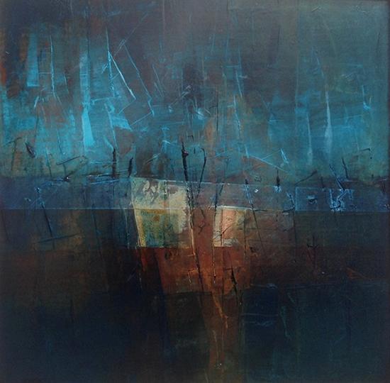 Abstract Art Painting on Canvas by Sadettin Karacagil