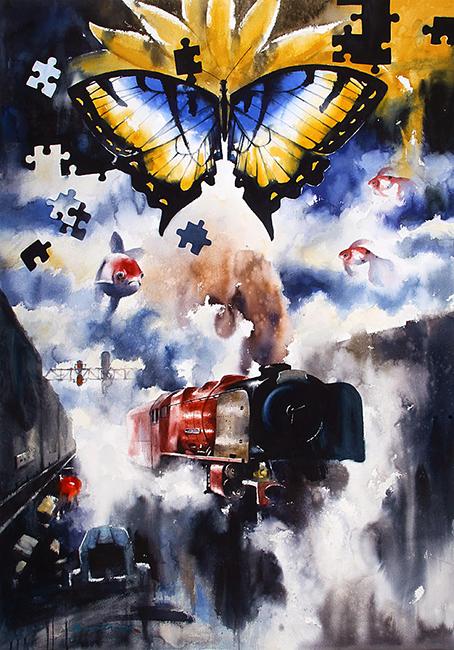"Abstract Art ""Disintegration III"" by Ananta Mandal"