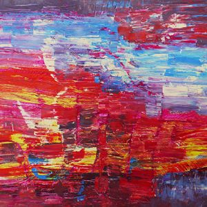 "Abstract Art Painting ""Abstract III"" by M. Wapiennik"