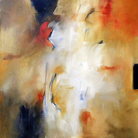 "Abstract Art Painting ""Breakthrough"" by F. Booth"