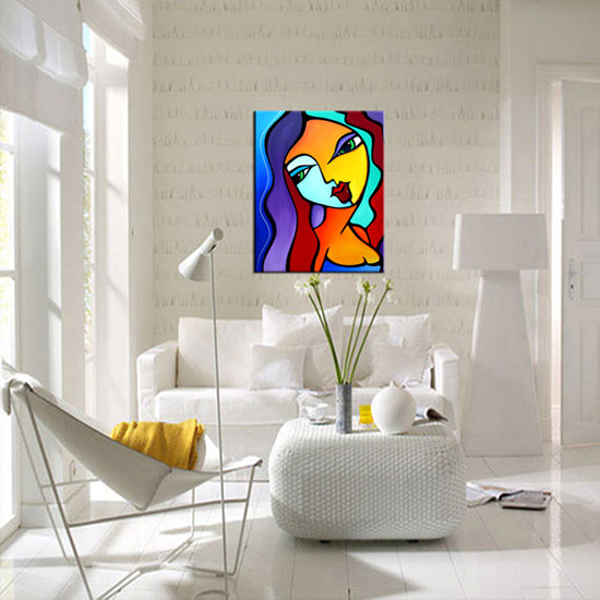 "Abstract Art Painting ""Girl Like You"" - room view by T. Fedro"
