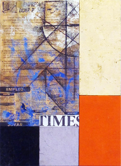 "Abstract Art Painting ""Times"" by C. Guitart"
