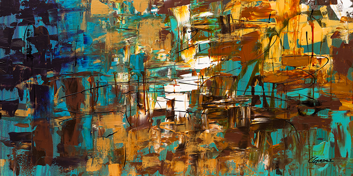 Abstract Art Turquoise Scent by Cguedez
