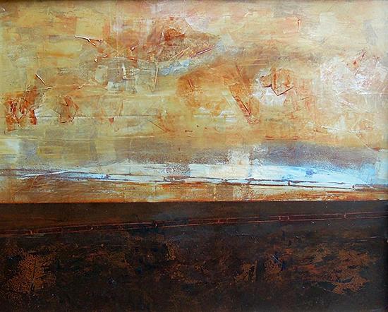 Abstract Art Painting on Vinyl by Sadettin Karacagil